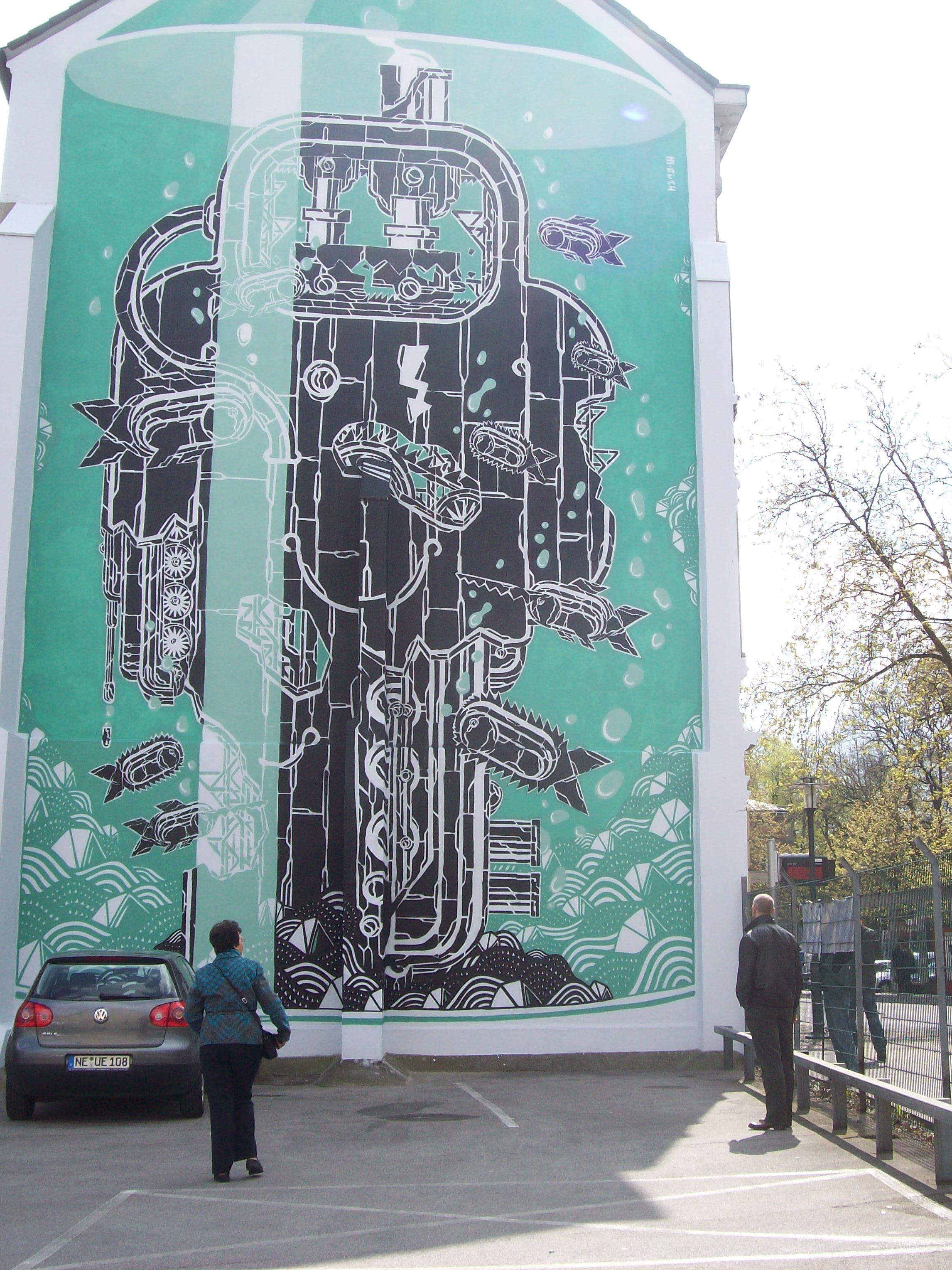 Streetart von Mariusz Waras in Neuss